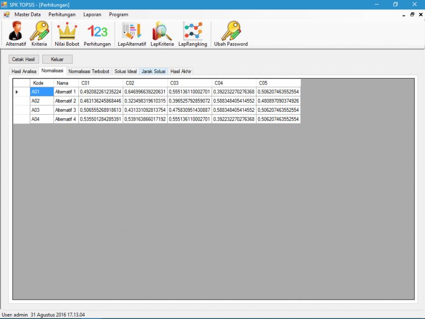 Source Code SPK Metode TOPSIS VB.Net